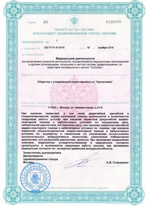 Лицензия ООО «Евроклиник» - страница 3
